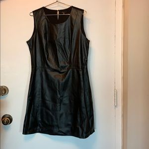 Pleather front babydoll dress from Milano